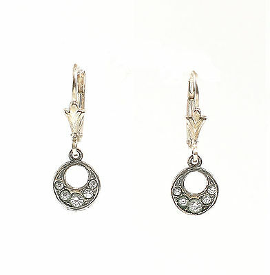 Silver 925 Earrings with Swarovski Stones Circles a2-01435