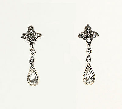 Silver 925 Earrings with Swarovski Stones a2-01469
