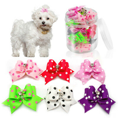 50100pcs Bling Puppy Small Dog Hair Bows Cute Grooming Accessory