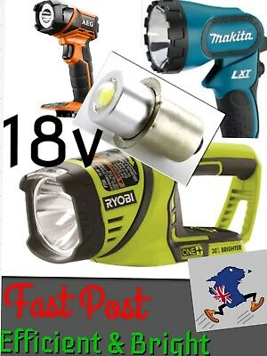 Torch LED Flash light Bulb 18V《14X8mm》Makita Ryobi DeWalt AEG Worklight