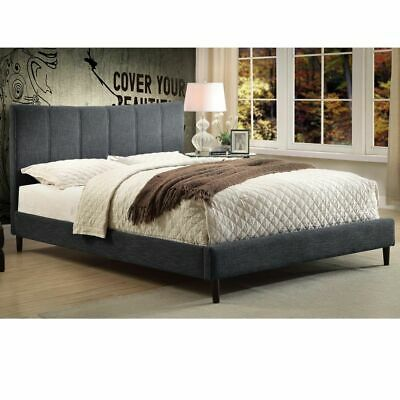 Rimo Collection Upholstered Queen (60'') 3-Pc Bed in 4 Fabric Colours