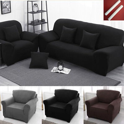 1/2/3 Seater Elastic Sofa Cover Home Soft Easy Stretch Slipcover Protector Couch