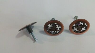 antique vintage pulls drawer cabinet door handles/knobs,lot of 3