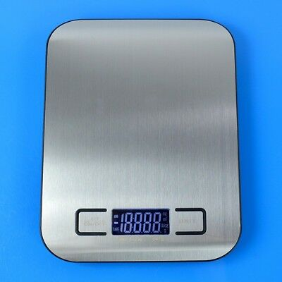 11lb 5kg Digital LCD Kitchen Food Scale with Steel Platform and Tare Function
