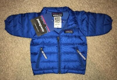 $99 New PATAGONIA Baby Down Sweater Puffer Jacket Viking Blue 800-Goose Down NWT