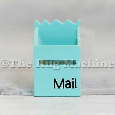 MAGICAL FAIRY MAILBOX - PALE BLUE Wooden Miniature Doll Size|Aussie Company *NEW