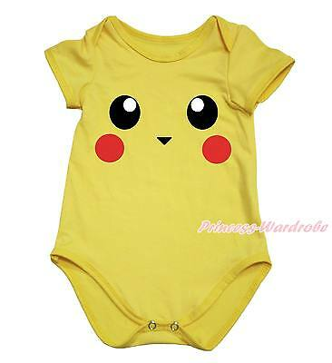 Yellow Mouse Rat Baby One Piece Cotton Girls Bodysuit Jumpsuit Romper NB-18Month