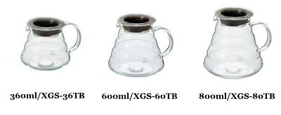 Hario V60 Coffee Range Server Clear XGS-36TB 360ml XGS-60TB 600ml XGS-80TB 800ml
