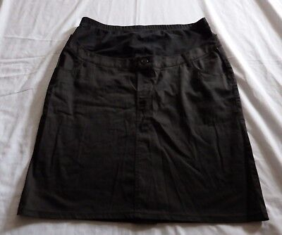 LADIES Size 14 Black maternity over belly SKIRT  NEW  Target