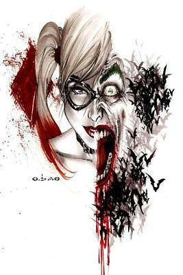 Harley Quinn and Joker Suicide Squad Silk Art poster print home decor