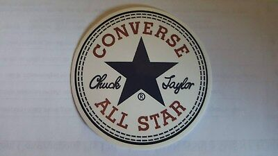 CONVERSE ALL STAR sticker decal laptop car wall unused unstuck quality 6 X 6 cm
