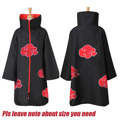 US!Anime NARUTO Uchiha Itachi Cosplay Costume Cloak Akatsuki Ninja Wind Coat Set