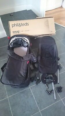 Phil and teds snug carrycot suitable for a dot or navigator & rear facing seat