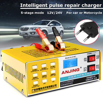 12V/24V 200AH Automatic Intelligent Pulse Repair Charger For Car Motorcycle