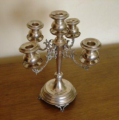 Antique. Silver Candlestick for 5 Candles.