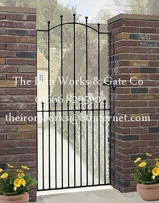 """MANOR IRON METAL SINGLE GARDEN GATE 6ft TALL x 40"""" OPENING MADE TO MEASURE LARGE"""