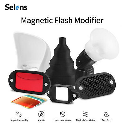 Selens 6 in 1 Magnetic Flash Honeycomb Grid Sphere Bounce Snoot Diffuser Filter