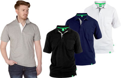 D555 GRANT Mens Big King size Pique Polo Shirt Top With Pocket   Duke