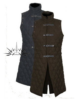 Medieval Gambeson coat Aketon Thick padded  Jacket COSTUMES DRESS SCA vest Armor