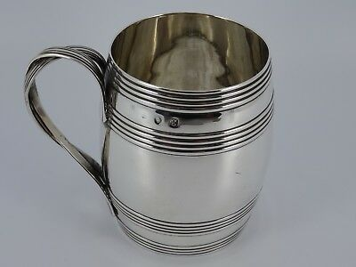 Georgian George Iii Solid Sterling Silver Christening Mug Tankard London 1782