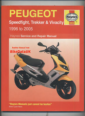 Peugeot 50 100 Scooters (96-05) Haynes Shop Manual Speedfight Trekker Vivacity