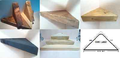 Wooden Floating Corner Shelf  - 3 Sizes 7 Colors - Discount On Multiple Orders