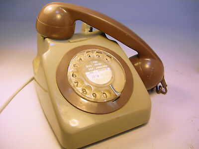 Collectable Vintage BT Rotary Dial Telephone 8746G GC (WH_1269)