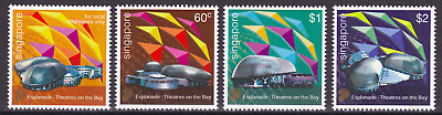 SINGAPORE - 2002 - Esplanade Theatres on the Bay. Complete set, 4v. Mint NH