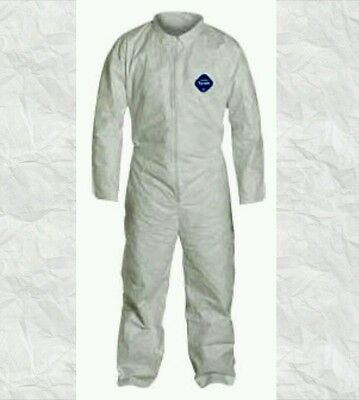 Dupont Disposable Tyvek Zip Coverall Suit Small SM TY120S *FREE SHIPPING