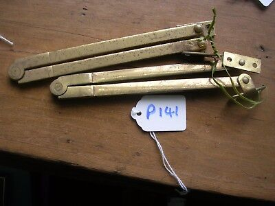 Pair Of Brass Bureau Stays (P141)