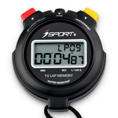 Digital Pro 10 Laps Memory Chronograph Stopwatch Two Row Sport Counter Timer