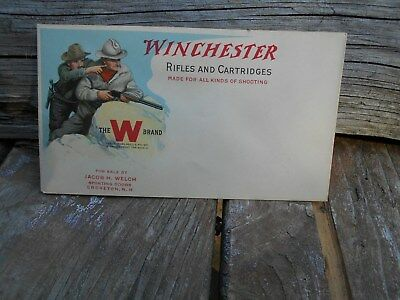 Winchester Rifles and Cartridges ENVELOPE COVER  VERY RARE VINTAGE