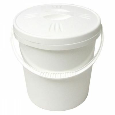 Junior Joy 16L Nappy Pail Bin with Lid Hygienic Storage Disposal Solution, White