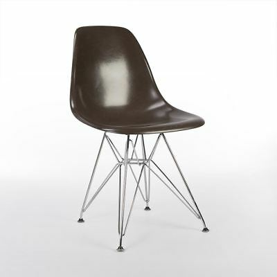 Seal Brown Herman Miller Original Authentic Eames DSR Side Shell Chair