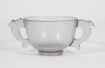 chinese peking glass two ear cup
