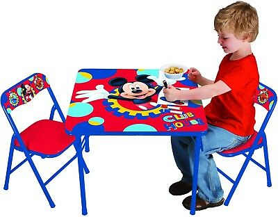 Disney Mickey Mouse Playground Pals Activity Table Set Kids Furniture Gift Room