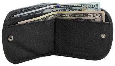 BRANDIO Gray TAXI CABBIE WALLET Coin Purse ROUND CORNERS Cowhide Leather CP1012