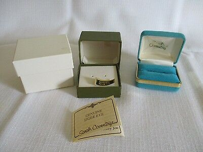 Lot of 2 Sarah Coventry Jewelry Presentation Boxes for Ring and Earrings