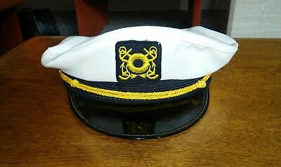 Antique 1920's Sailor Yacht Boat Skipper Hat Cap Nautical Advertising Display A+