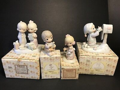 Vintage Precious Moments Christmas E-2377/E-5378/E-1373/G/E-2829 MINT