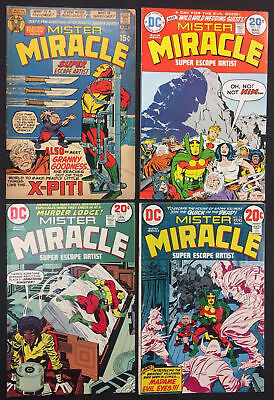 Mister Miracle Comics (Lot of 4) Vintage 1970's