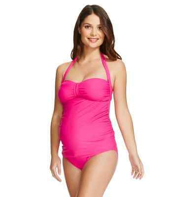 Vm Maternity For Target Hipster Swimsuit Bottom In Magenta Pink Size Xl $22.99