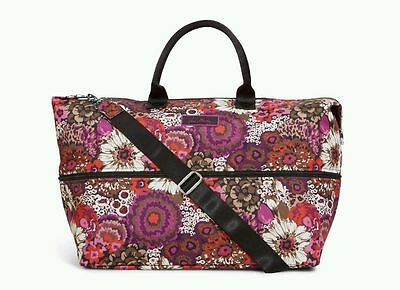 NWT Vera Bradley Lighten Up Expandable Travel Bag Carry On Overnighter Rosewood