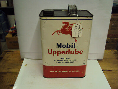 Vintage Mobil One Gallon Service Station Oil Can   G-86