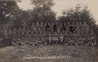 Soldier Group G Company 3rd London Regiment Perham Down 1913