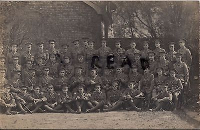 WW1 Officer Group Royal Fusiliers Hythe July 1915 Dover photographer