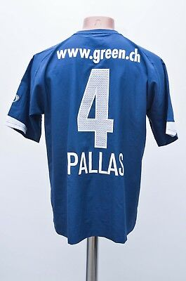 Match Issue Zurich Switzerland 2003/2004 Away Football Shirt Nike #4 Pallas