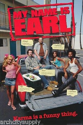 2 Different Posters:tv: My Name Is Earl- Group & Joy  #8693  Rap22 A/8695 Rap26A