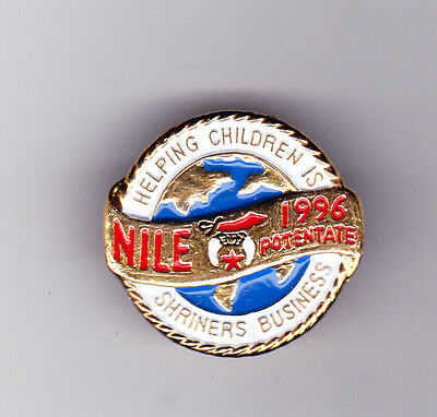 Helping Children Is Shriners Business Nile 1996 Potentate Tie Tack Pin