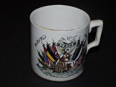 World War 1914-1919 Peace Mug Liberty Justice Truth Honour